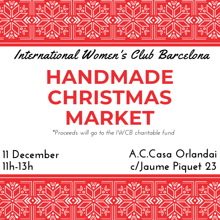international women's club barcelona handmade christmas market